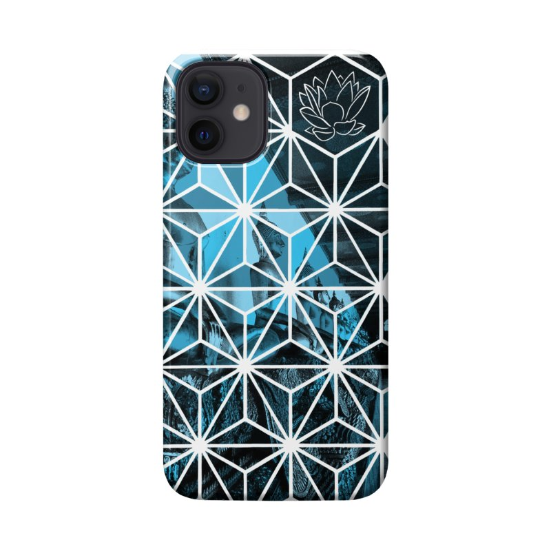Buddhas - Blue Accessories Phone Case by Lotus Stencils