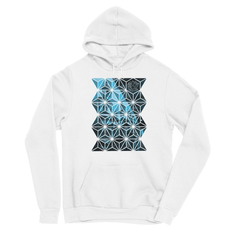 Buddhas - Blue Men's Pullover Hoody by Lotus Stencils