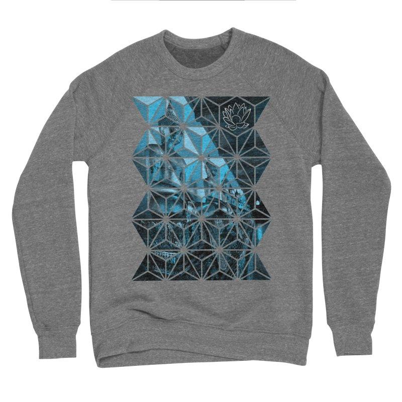 Buddhas - Blue Men's Sweatshirt by Lotus Stencils