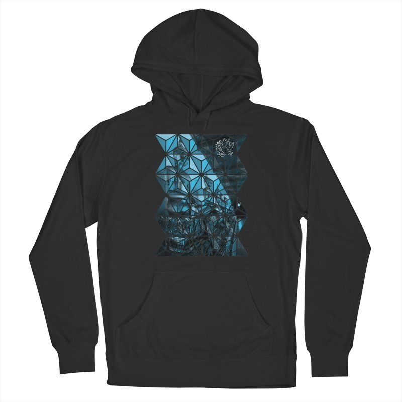 Buddhas - Blue Women's Pullover Hoody by Lotus Stencils