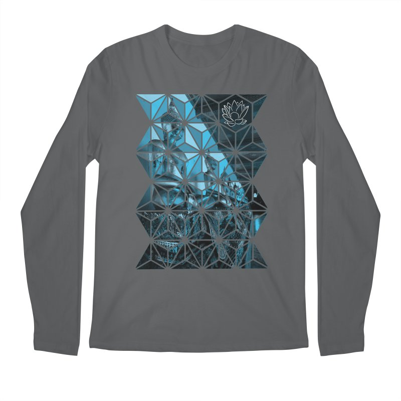 Buddhas - Blue Men's Longsleeve T-Shirt by Lotus Stencils