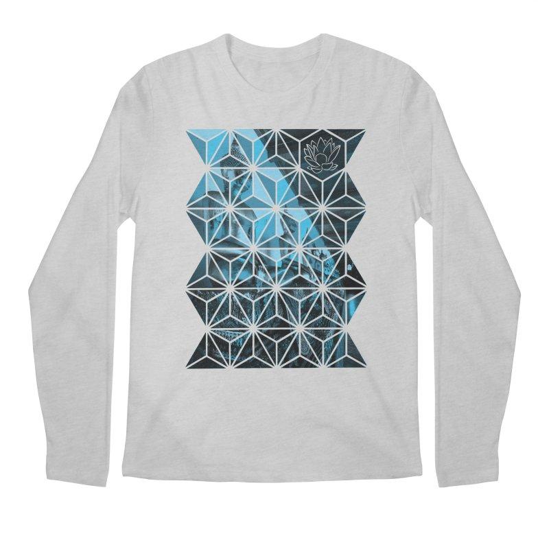 Buddhas - Blue Men's Longsleeve T-Shirt by Lotus Stencils