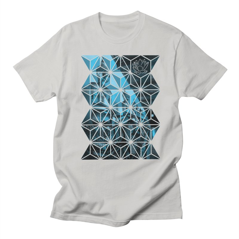 Buddhas - Blue Men's T-Shirt by Lotus Stencils