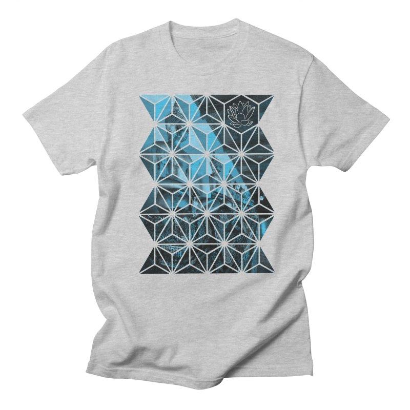 Buddhas - Blue Men's T-Shirt by Lotus Stencils