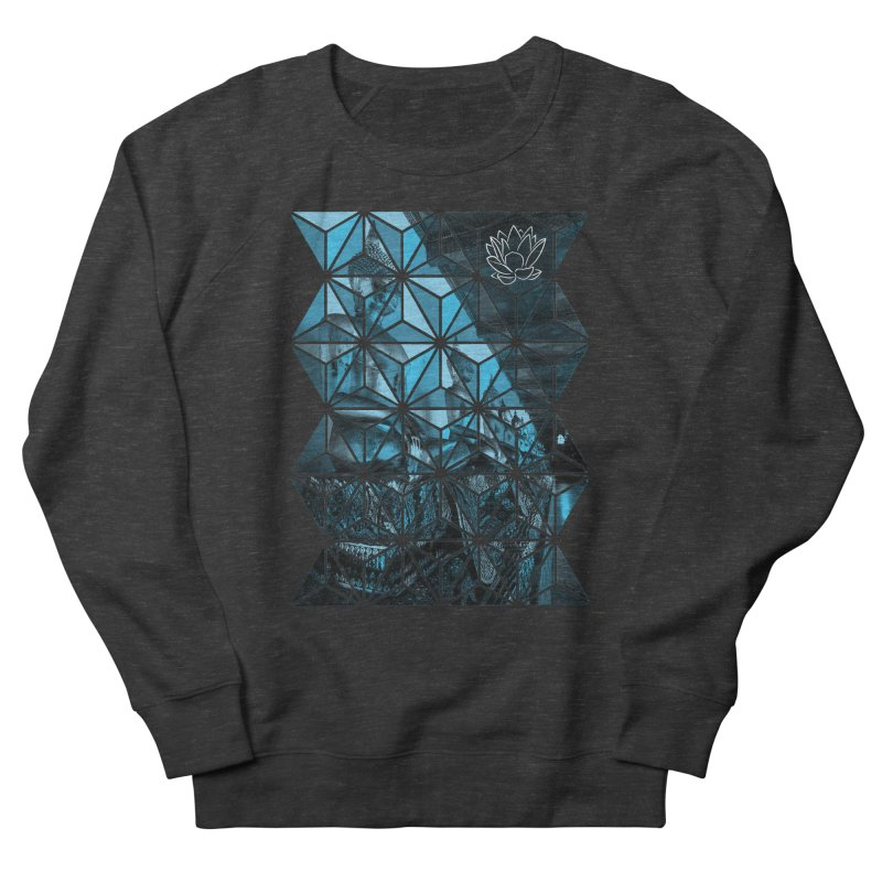 Buddhas - Blue Women's Sweatshirt by Lotus Stencils
