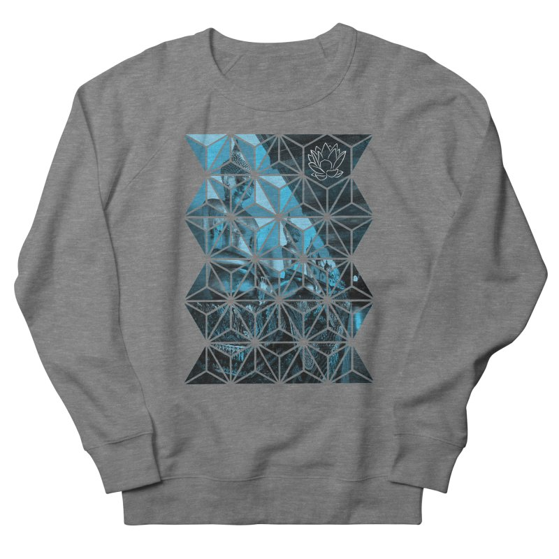 Buddhas - Blue Men's Sweatshirt by Lotus Stencils