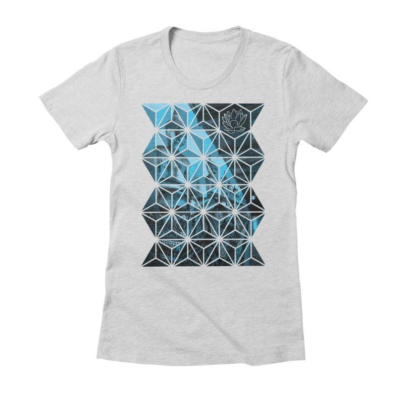 Buddhas - Blue Women's T-Shirt by Lotus Stencils