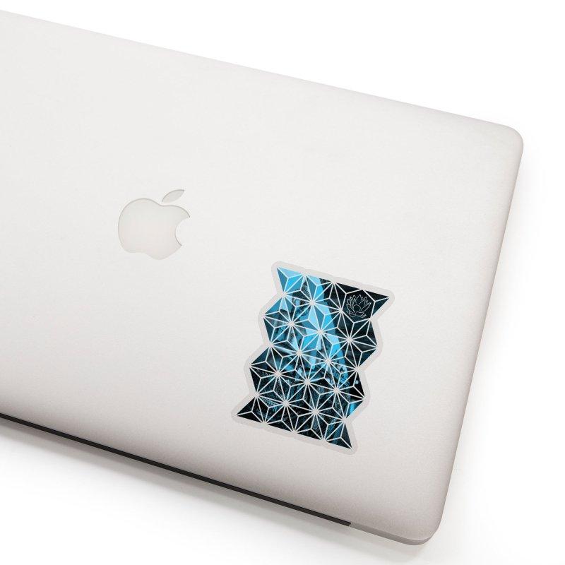 Buddhas - Blue Accessories Sticker by Lotus Stencils
