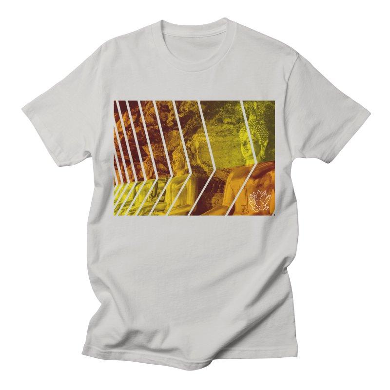 Buddhas - Gold Men's T-Shirt by Lotus Stencils