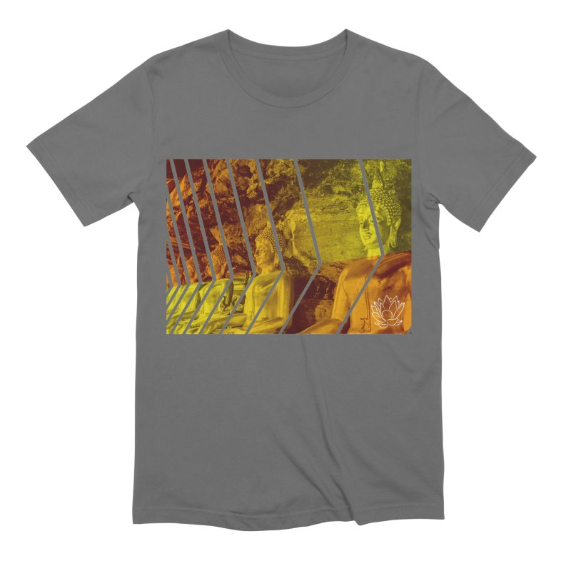 Buddhas - Gold Men's T-Shirt by Lotus Stencils