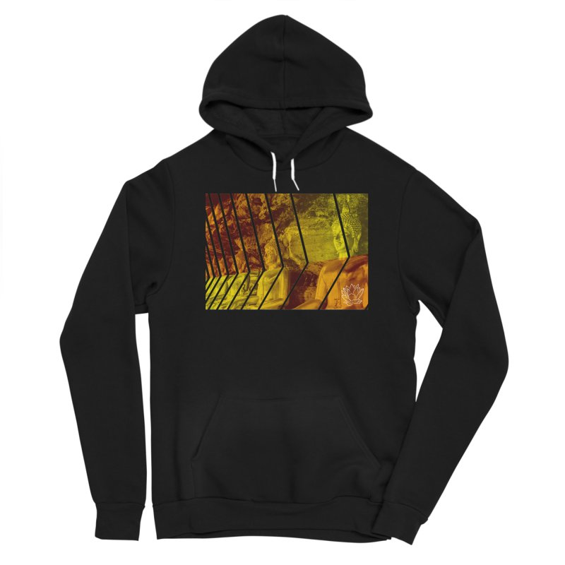 Buddhas - Gold Men's Pullover Hoody by Lotus Stencils