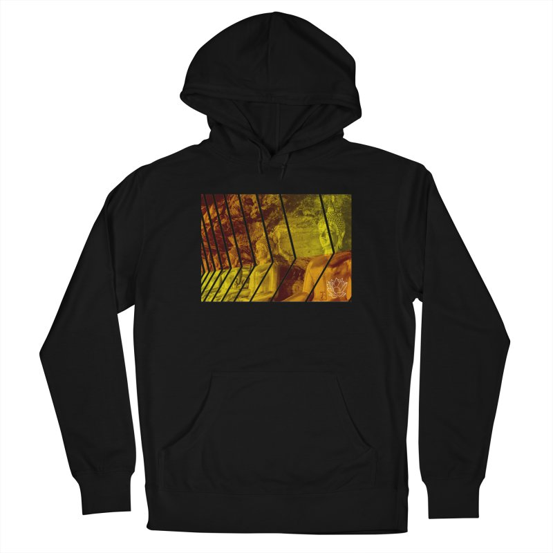 Buddhas - Gold Women's Pullover Hoody by Lotus Stencils