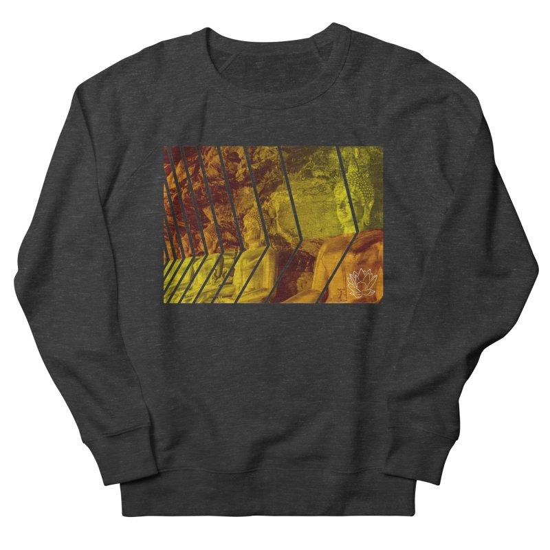 Buddhas - Gold Women's Sweatshirt by Lotus Stencils