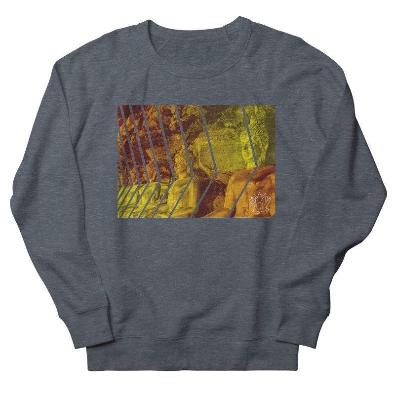 Buddhas - Gold Men's Sweatshirt by Lotus Stencils