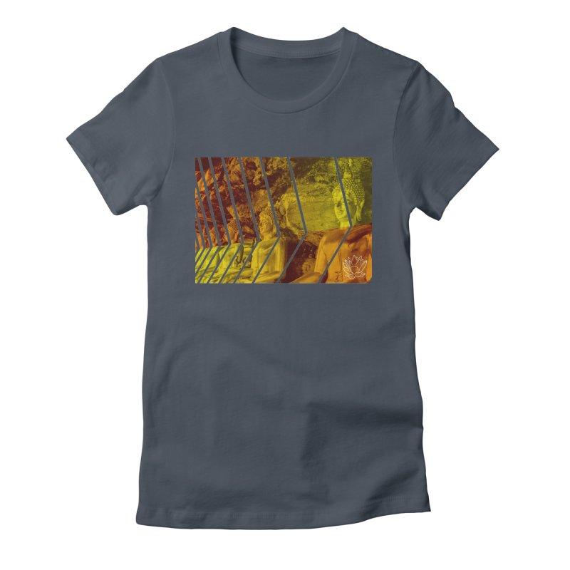 Buddhas - Gold Women's T-Shirt by Lotus Stencils