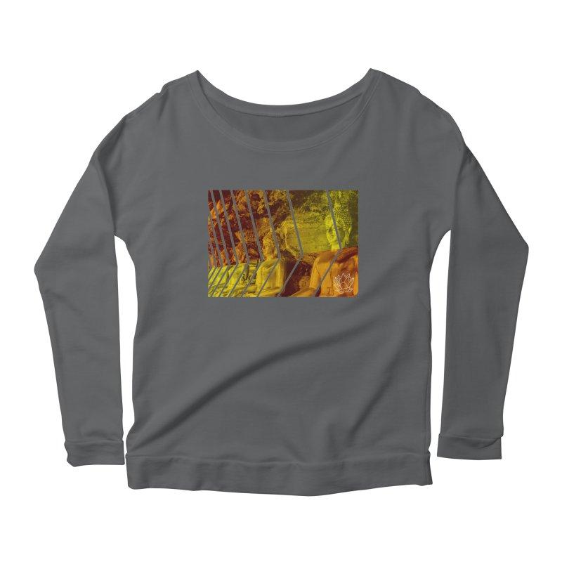 Buddhas - Gold Women's Longsleeve T-Shirt by Lotus Stencils