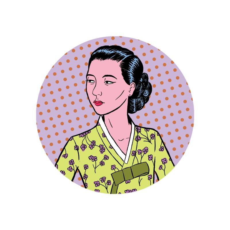 Korean Hanbok Woman by Louis Barnard Illustration