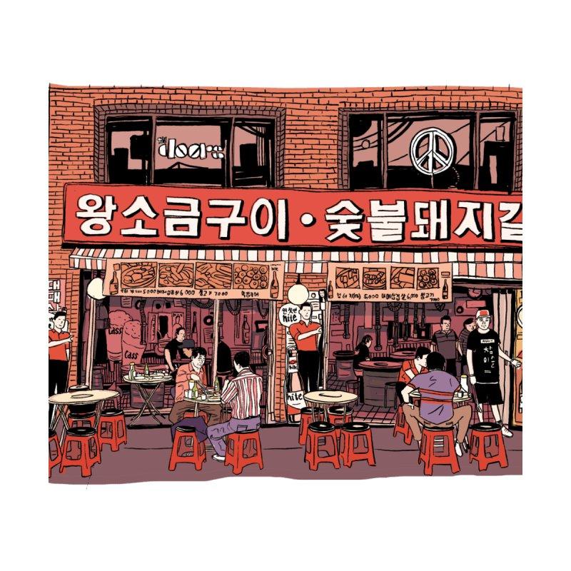 Korean BBQ by Louis Barnard Illustration