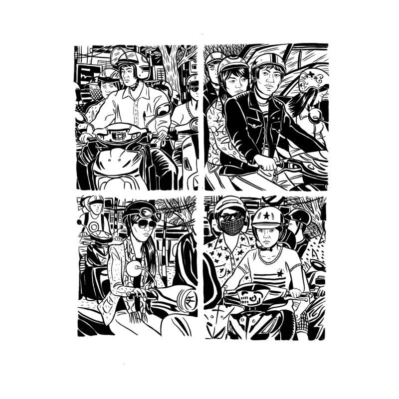 Hanoi Scooter Comic by Louis Barnard Illustration