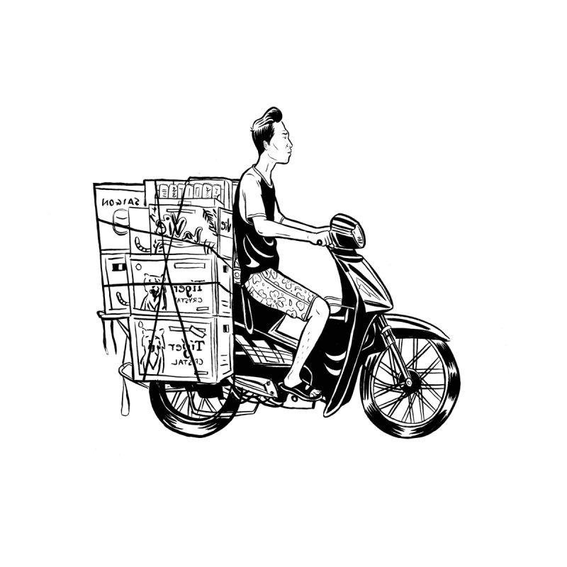 Scooter Man by Louis Barnard Illustration