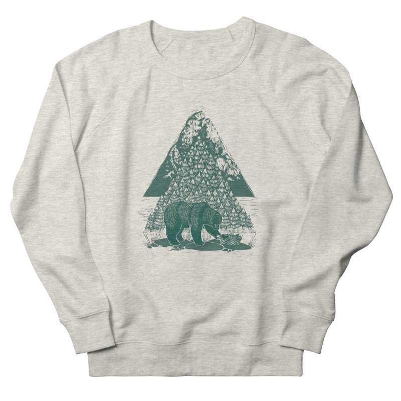 Teddy Bear Picnic Men's French Terry Sweatshirt by louisehubbard's Artist Shop