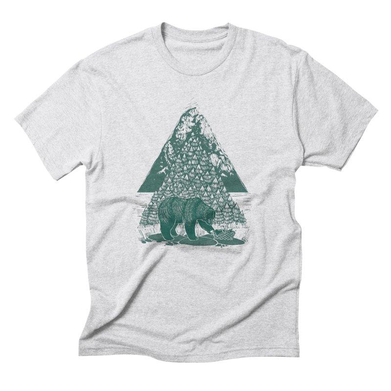 Teddy Bear Picnic Men's Triblend T-Shirt by louisehubbard's Artist Shop