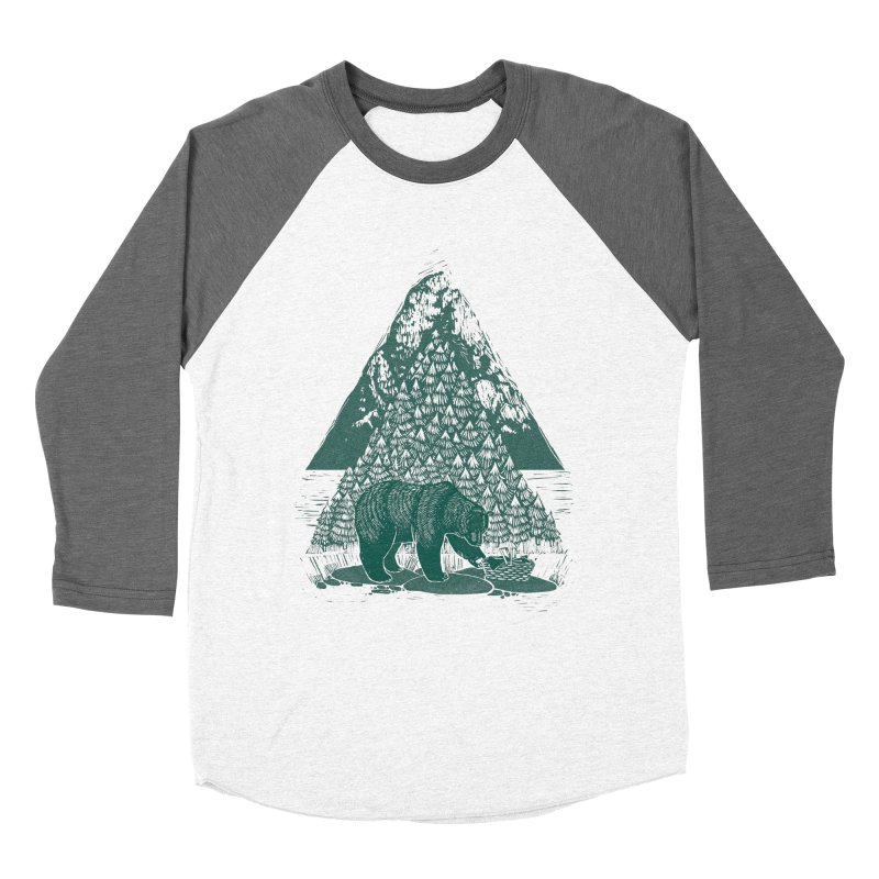 Teddy Bear Picnic Women's Baseball Triblend Longsleeve T-Shirt by louisehubbard's Artist Shop