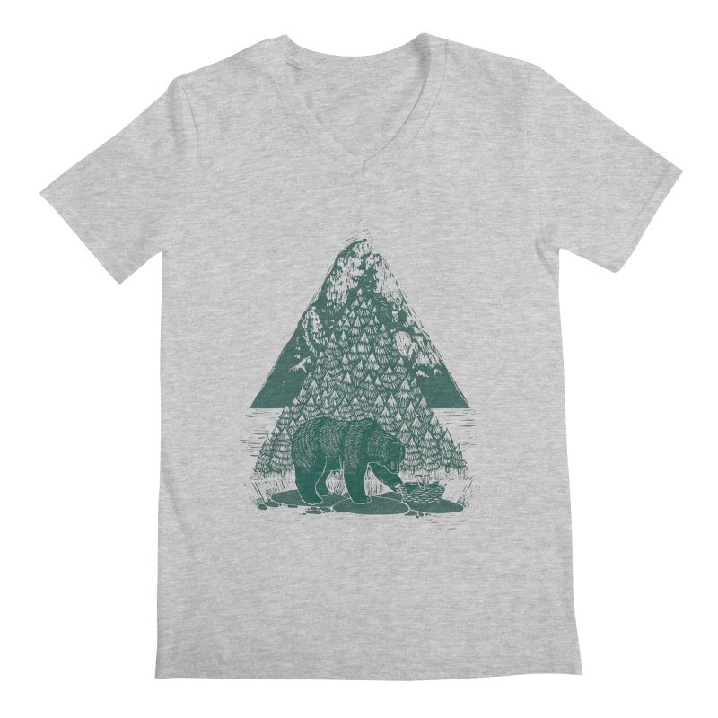 Teddy Bear Picnic Men's V-Neck by louisehubbard's Artist Shop