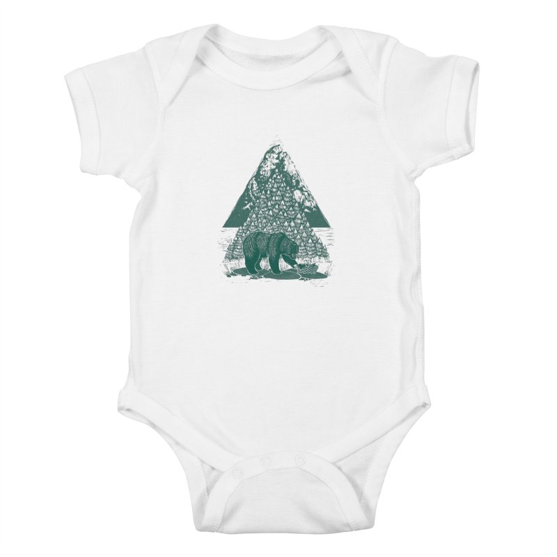 Teddy Bear Picnic Kids Baby Bodysuit by louisehubbard's Artist Shop
