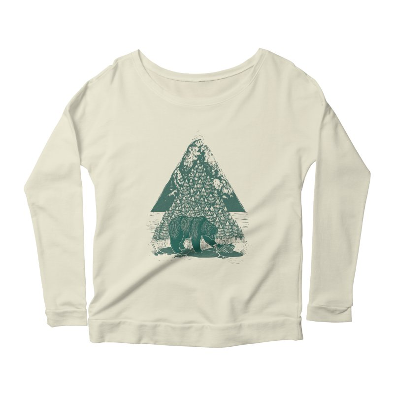 Teddy Bear Picnic Women's Scoop Neck Longsleeve T-Shirt by louisehubbard's Artist Shop