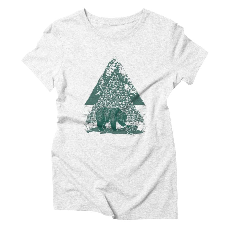 Teddy Bear Picnic Women's Triblend T-shirt by louisehubbard's Artist Shop