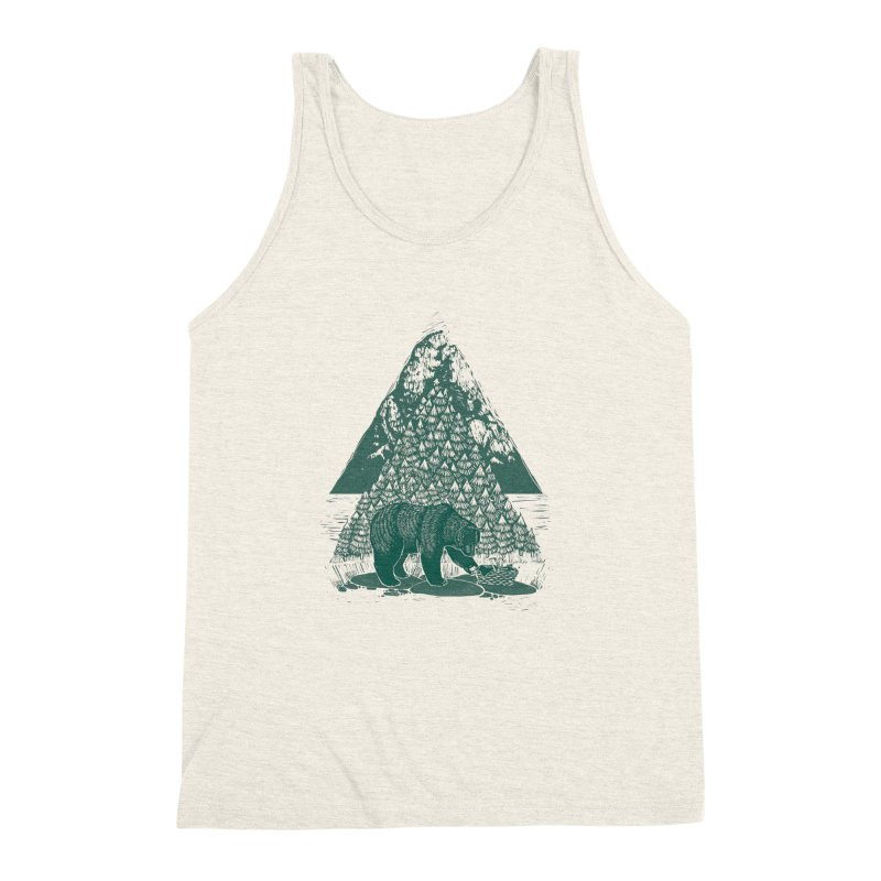 Teddy Bear Picnic Men's Triblend Tank by louisehubbard's Artist Shop