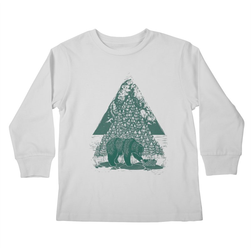 Teddy Bear Picnic Kids Longsleeve T-Shirt by louisehubbard's Artist Shop