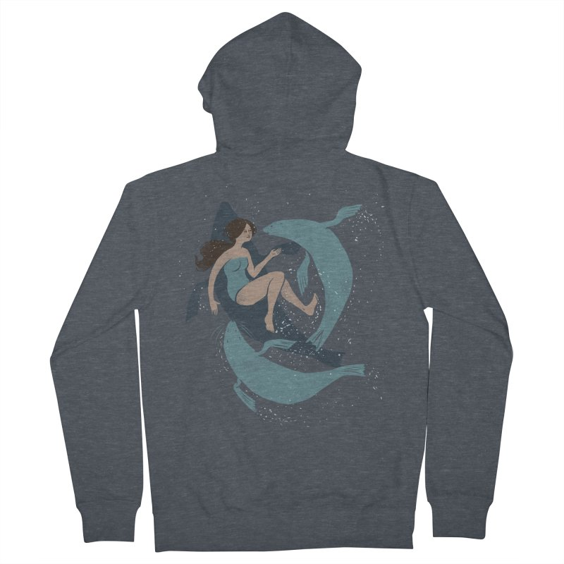 Selkie Women's Zip-Up Hoody by louisehubbard's Artist Shop