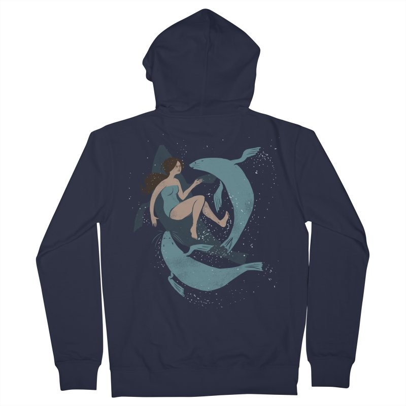 Selkie Men's French Terry Zip-Up Hoody by louisehubbard's Artist Shop