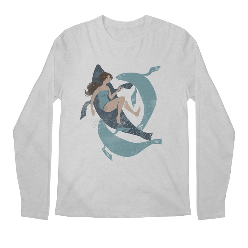 Selkie Men's Regular Longsleeve T-Shirt by louisehubbard's Artist Shop