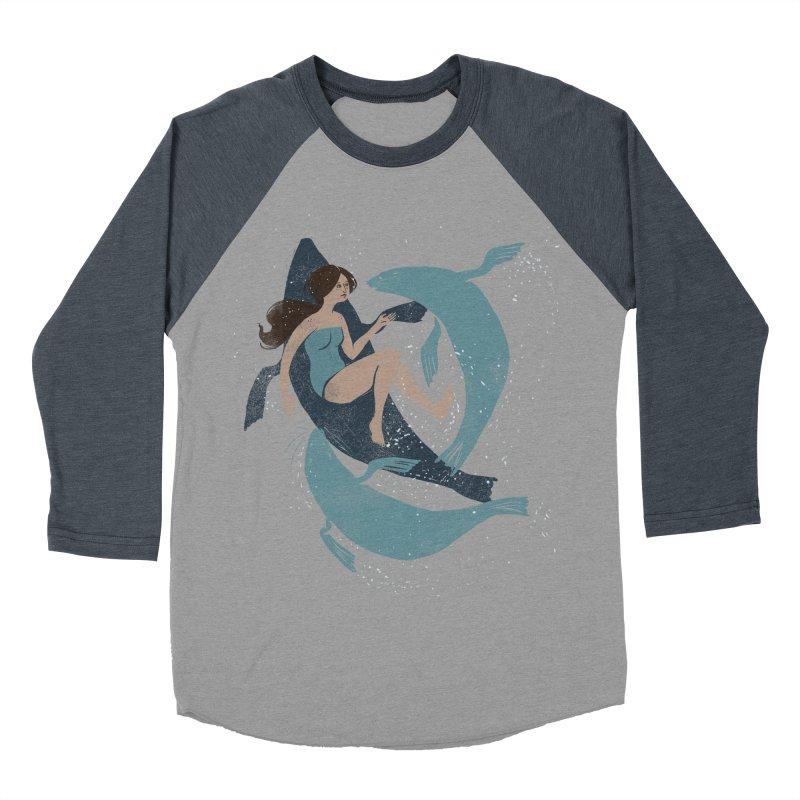 Selkie Men's Baseball Triblend Longsleeve T-Shirt by louisehubbard's Artist Shop