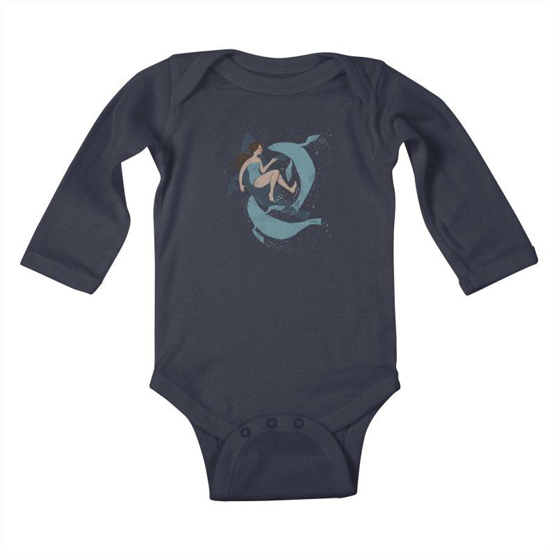 Selkie Kids Baby Longsleeve Bodysuit by louisehubbard's Artist Shop
