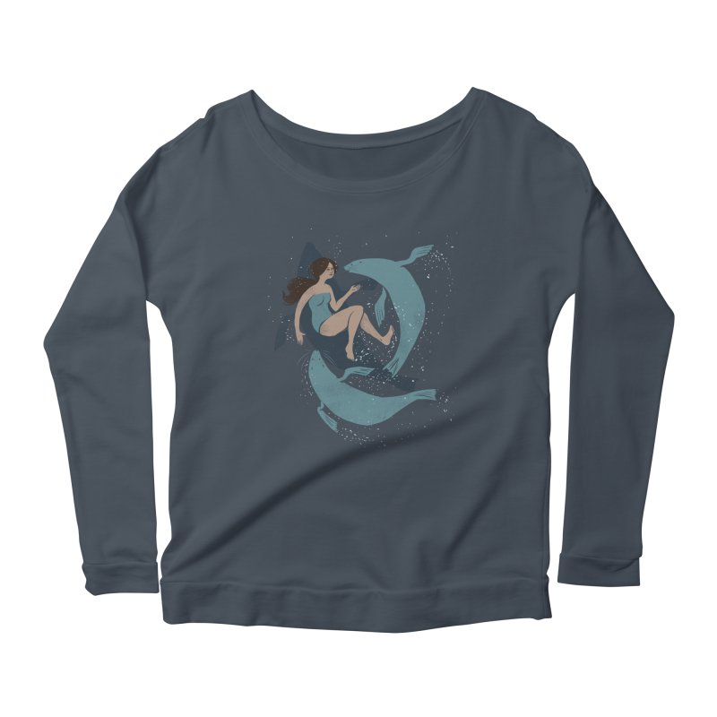Selkie Women's Scoop Neck Longsleeve T-Shirt by louisehubbard's Artist Shop