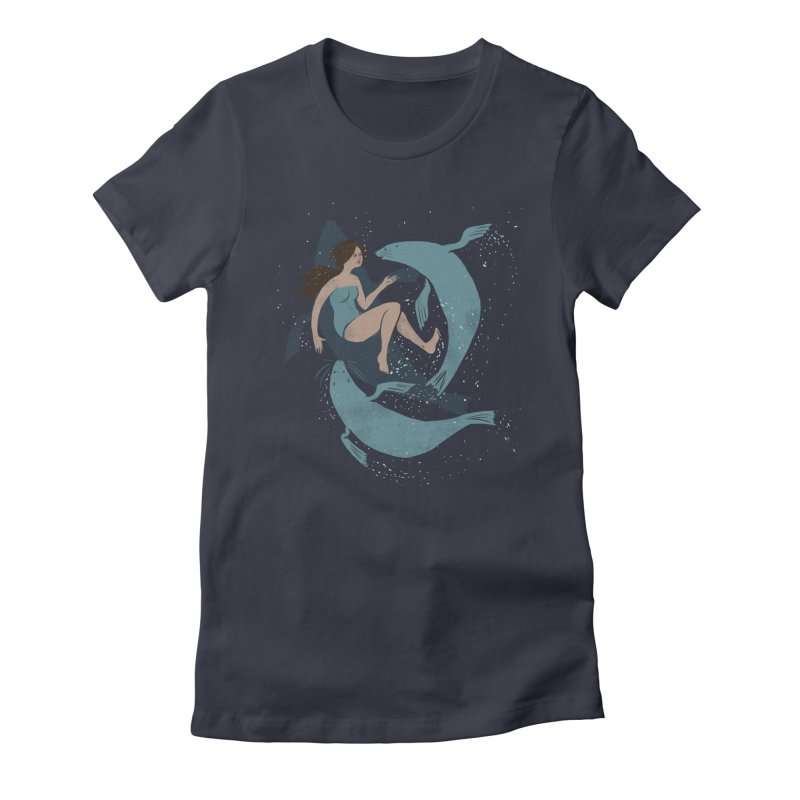 Selkie Women's Fitted T-Shirt by louisehubbard's Artist Shop