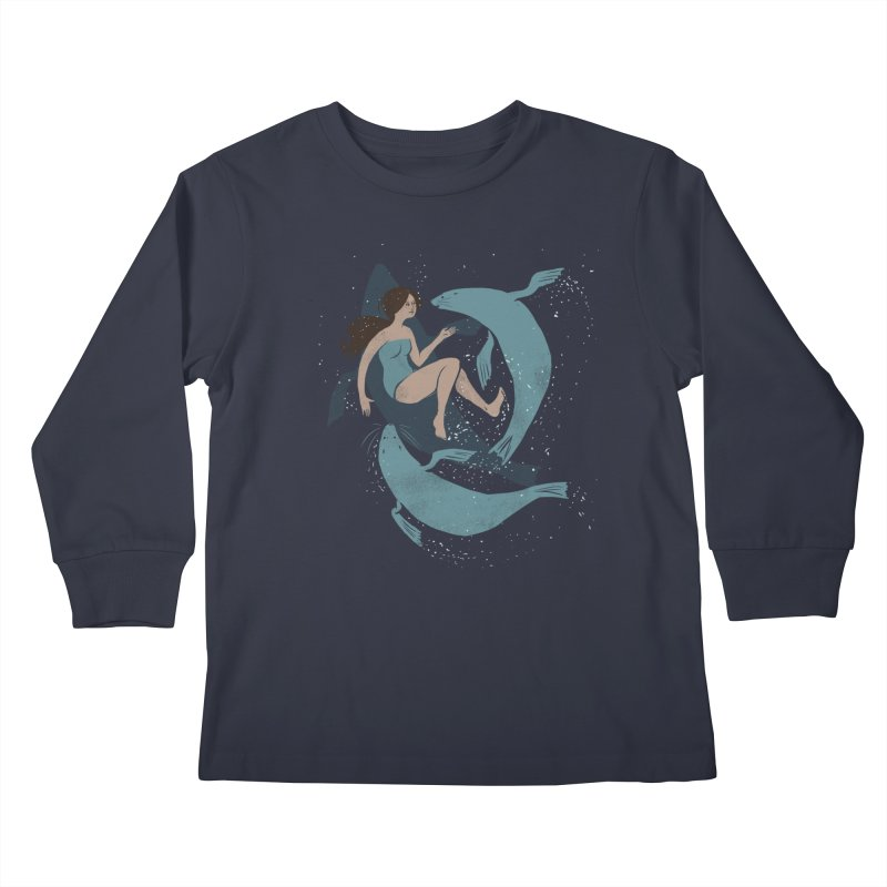 Selkie Kids Longsleeve T-Shirt by louisehubbard's Artist Shop