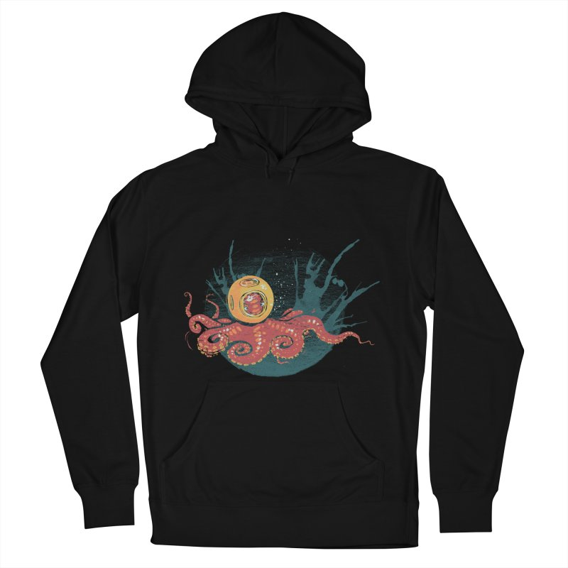 Deep Sea Diver Men's French Terry Pullover Hoody by louisehubbard's Artist Shop