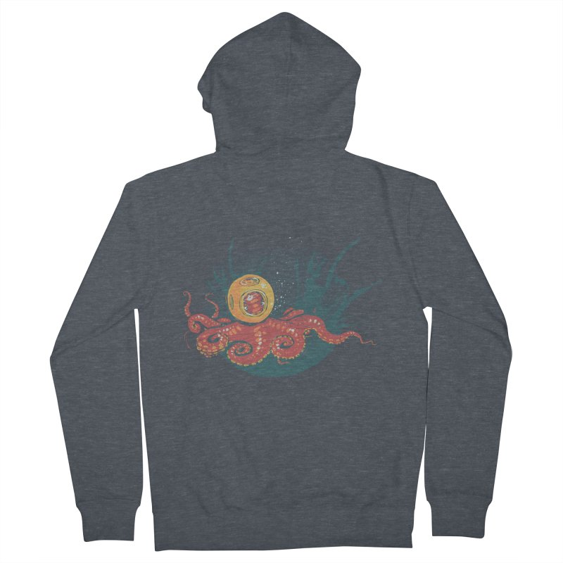 Deep Sea Diver Men's French Terry Zip-Up Hoody by louisehubbard's Artist Shop
