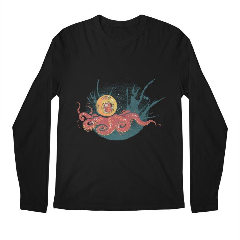 Deep Sea Diver Men's Regular Longsleeve T-Shirt by louisehubbard's Artist Shop
