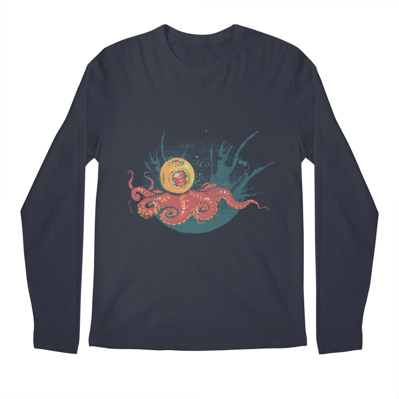 Deep Sea Diver Men's Regular Longsleeve T-Shirt by louisehubbard's Artist Shop