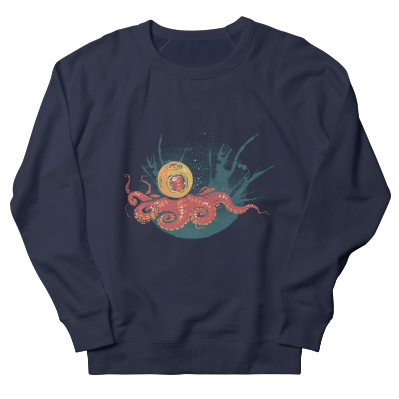 Deep Sea Diver Men's French Terry Sweatshirt by louisehubbard's Artist Shop