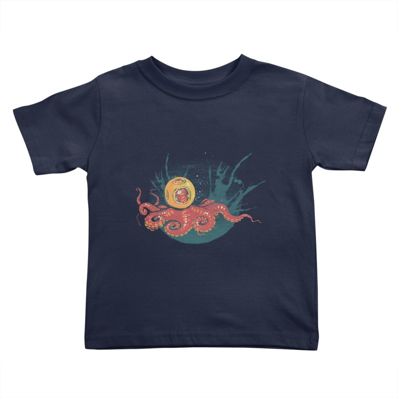 Deep Sea Diver Kids Toddler T-Shirt by louisehubbard's Artist Shop