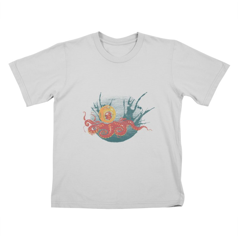 Deep Sea Diver Kids T-Shirt by louisehubbard's Artist Shop