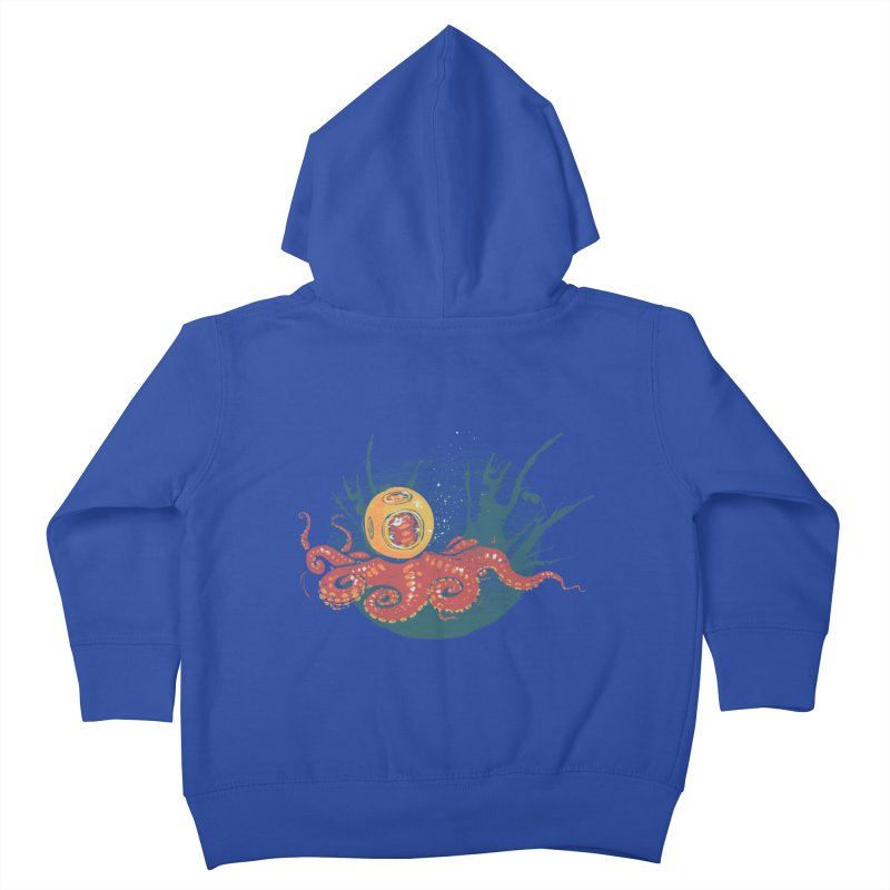 Deep Sea Diver Kids Toddler Zip-Up Hoody by louisehubbard's Artist Shop