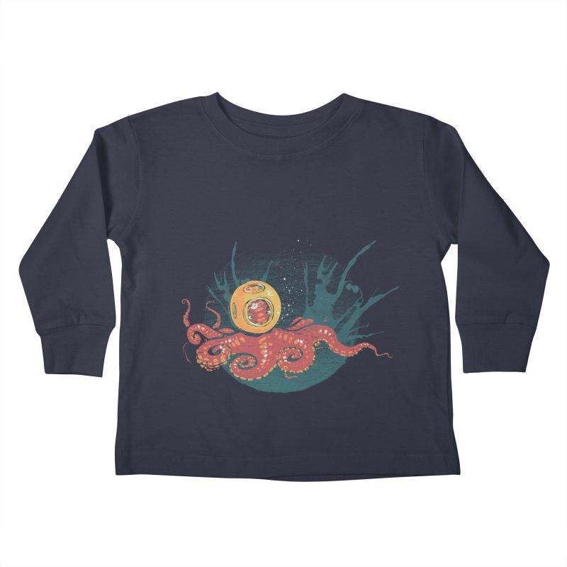Deep Sea Diver Kids Toddler Longsleeve T-Shirt by louisehubbard's Artist Shop